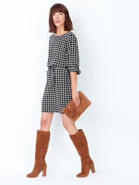 Heeled knee high boots brown.