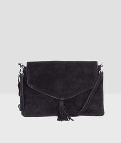 Leather bag black.