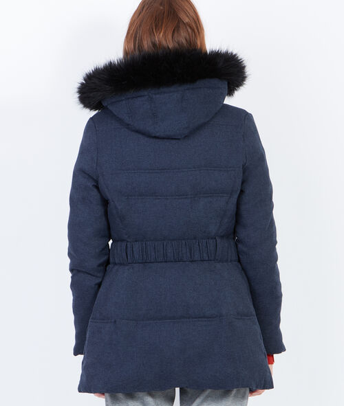 3/4 padded jacket with hood
