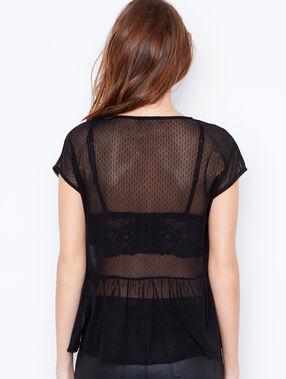 Sheer shirt black.