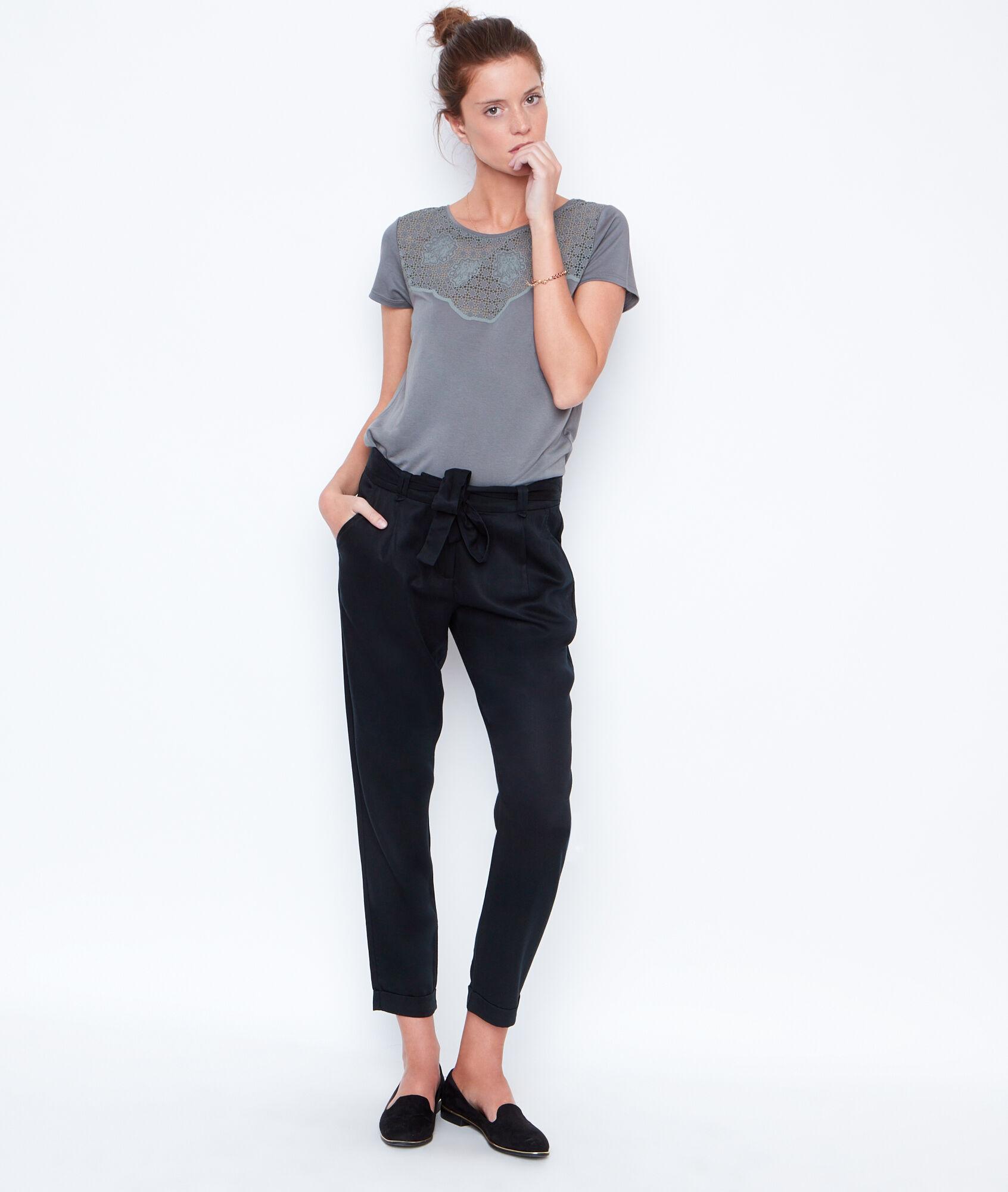 river belt pantalon carotte fluide etam. Black Bedroom Furniture Sets. Home Design Ideas