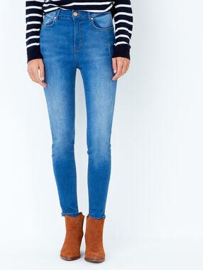 Jean skinny bleu nuit.