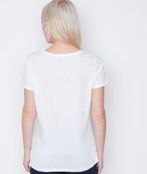 T-shirt manches courtes oiseau strass