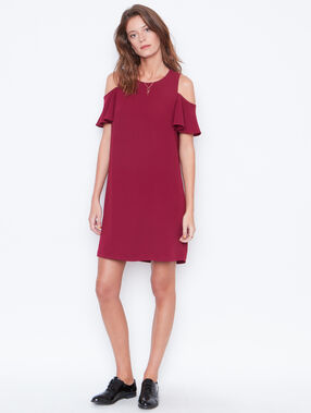 Flare dress plum.