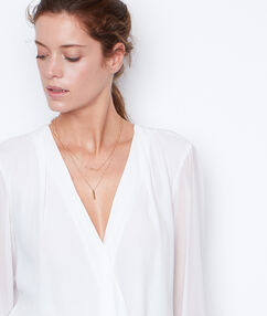 V neck shirt white.