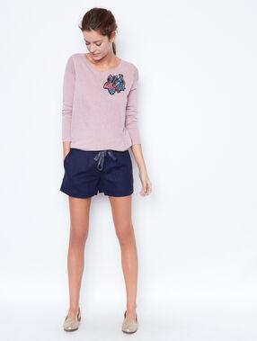 Shorts bleu marine.
