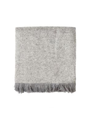 Fringe scarf light grey.