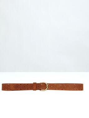 Leather belt black.