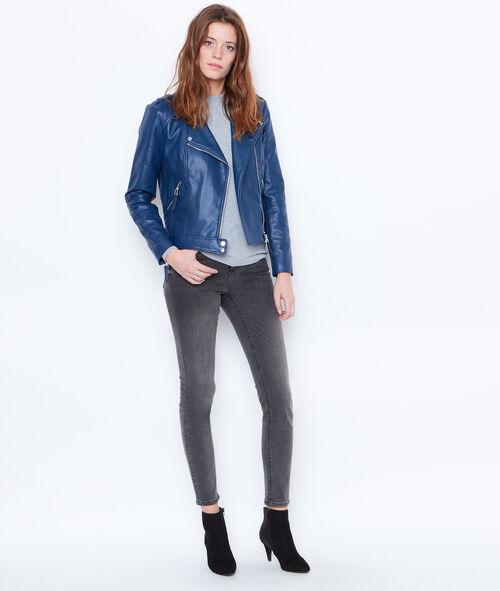 Biker jacket in faux leather