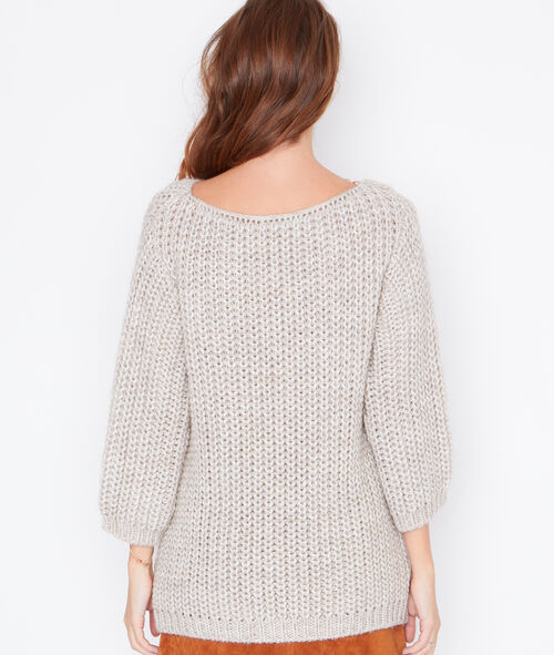 Cable knit large sweater