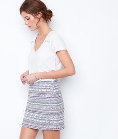 Falda tubo estampada c.nude.