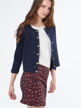 Printed shirt navy.