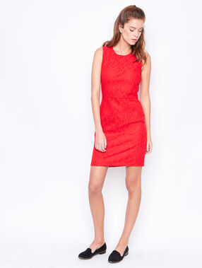 Sleeveless dress red.