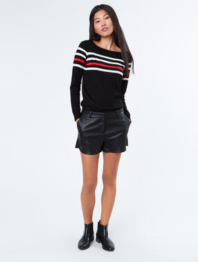 Stripped sweater black.