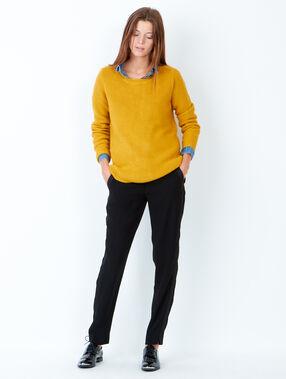 Knit sweater yellow.