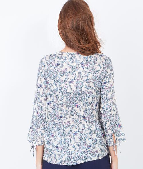Printed 3/4 sleeve blouse