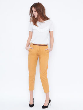 Pants yellow.