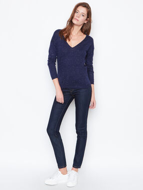 V neck sweater navy.