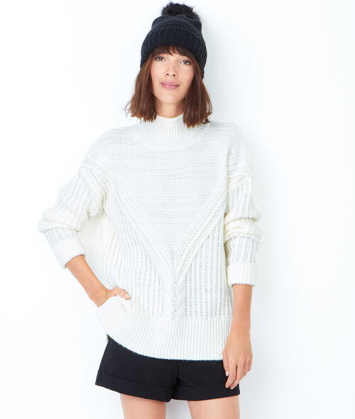Chunky knitted turtleneck jumper