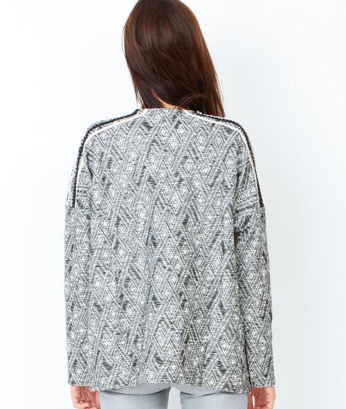 Graphic print long sleeve cardigan