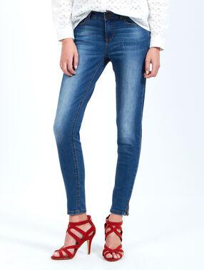 Jeans skinny bleu.