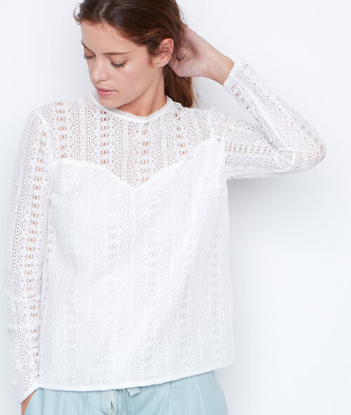 Lace long sleeves shirt