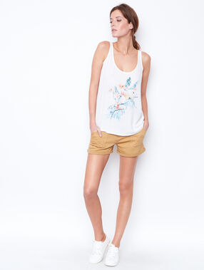 Printed tank top white.