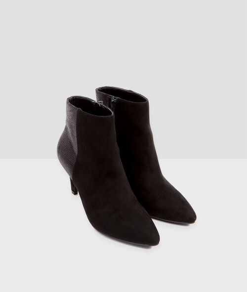 Mid heeled ankle boots