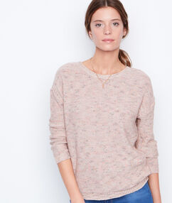 Pull col v dans le dos nude.