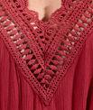 Robe longue encolure crochet