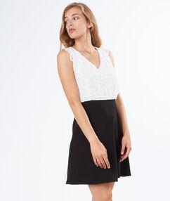 Sleeveless dress off-white.