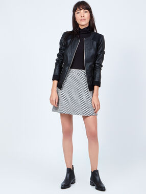 Effect leather jacket black.