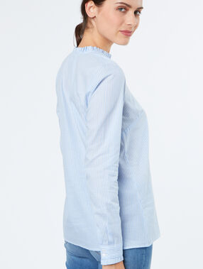 Stripped blouse lightblue.