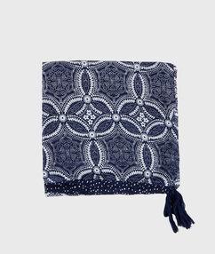 Printed scarf navy.