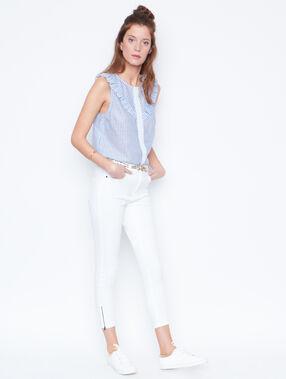 Jean skinny blanc.
