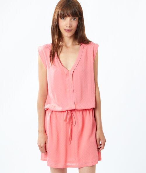 Robe blouse col V