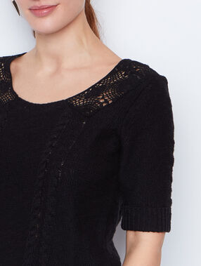 Lace sweater black.