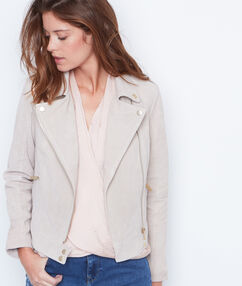 Leather jacket beige.