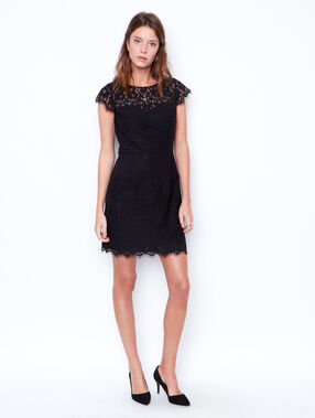 Lace dress black.