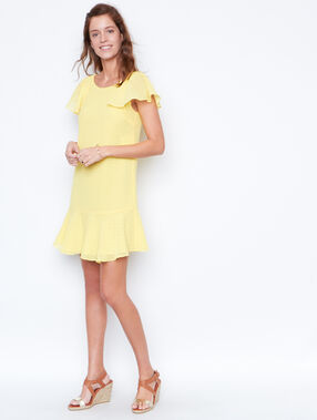 Kleid gelb.