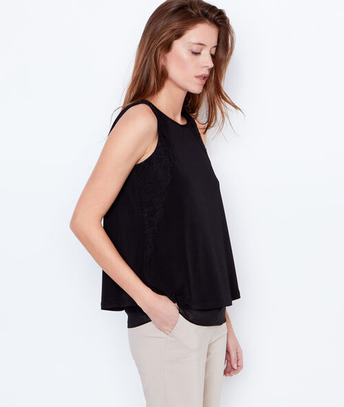 Tie back top with lace details