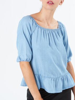 Cold shoulders top lightblue.