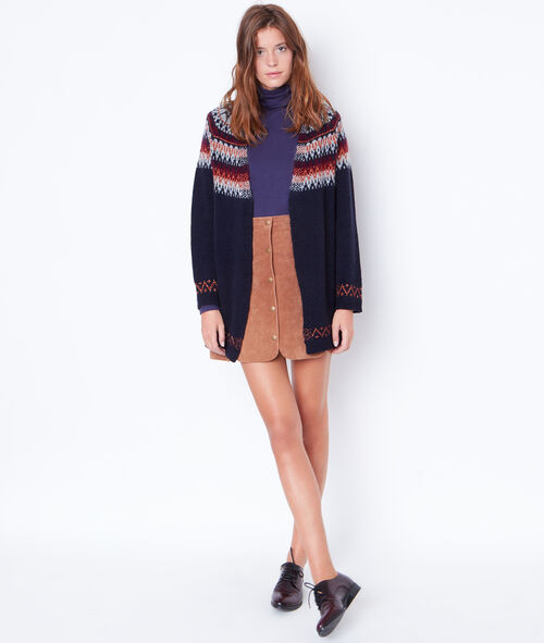 Long knit cardigan