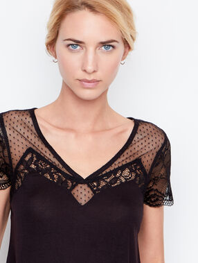 Short sleeves top schwarz.