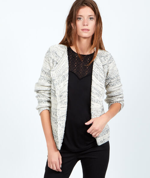 Veste tricot chiné