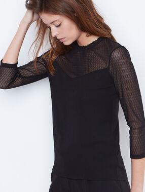 3/4 sleeve top black.