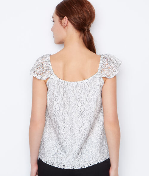 Lace Short sleeves top