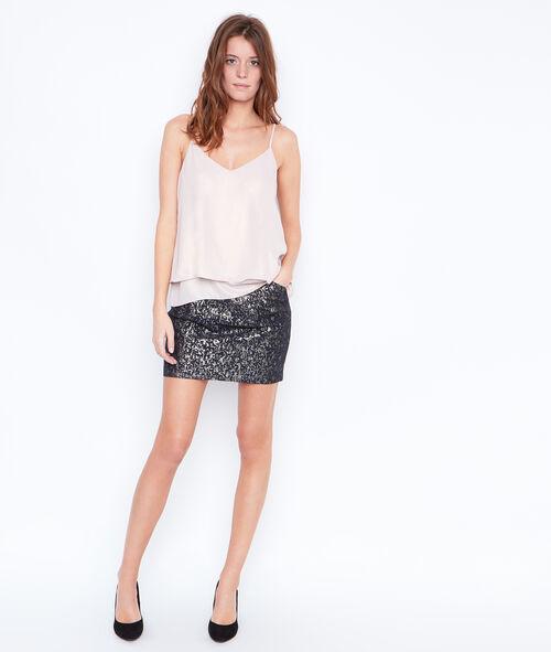 Metallic effect skirt