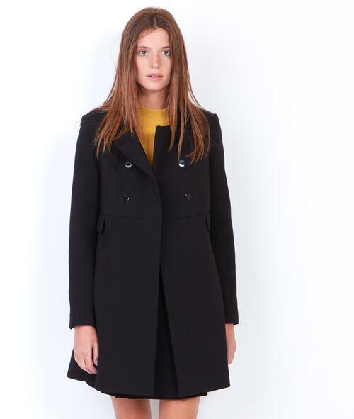 Manteau babydoll à double boutonnage