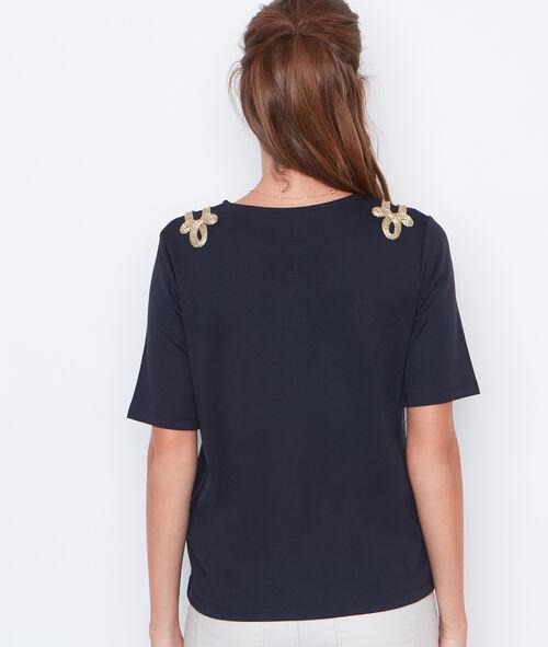 T-shirt épaules ornées